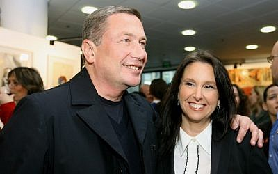 Nochi Dankner, left, and Shari Arison, in 2007 (photo credit: Moshe Shai/Flash90)
