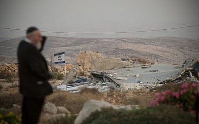 A destroyed home near the outpost of Migron last year. (photo credit: Yonatan Sindel/Flash90)