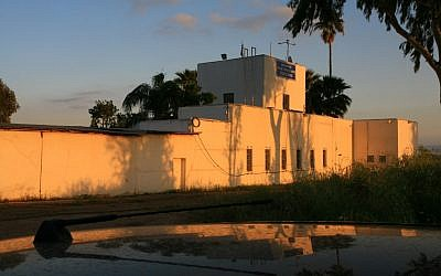 A Mandate-era military fort in Nahalal now used as an Israeli police station (photo credit: Chen Leopold/Flash90)