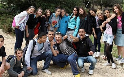 Israeli teenagers (photo credit: Gershon Elinson/Flash90)