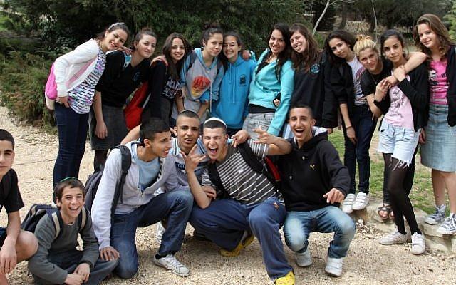 Israeli teenagers (photo credit: Gershon Elinson/Flash90)