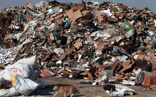 Waste disposal site (Photo credit: Wissam Nassar/Flash90)