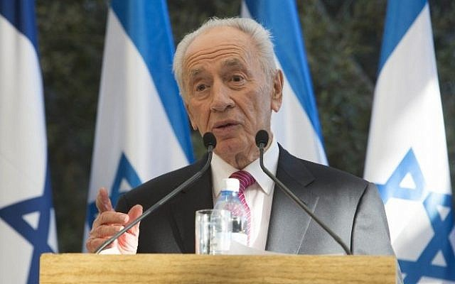 President Shimon Peres during a ceremony in Jerusalem, on September 4, 2012 (photo credit: Yonatan Sindel/Flash90)