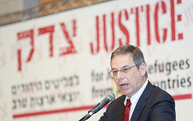 Deputy Minister of Foreign Affairs Danny Ayalon speaks at a conference about the rights of Jewish refugees from Arab countries earlier this month in Jerusalem. (photo credit: Oren Nahshon / FLASH90)