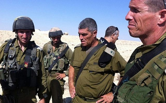 Former head of the IDF Southern Command Tal Russo at the scene of a terror attack near the Israeli-Egyptian border (photo credit: IDF Spokesperson/Flash90)