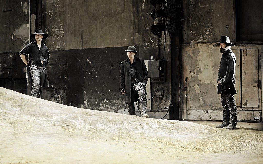 Michael Neuenschwander, right, as God (photo credit: courtesy of the Schauspielhaus, Zurich)