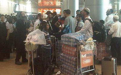 Israelis on the way to Uman. (photo credit: Aaron Kalman)