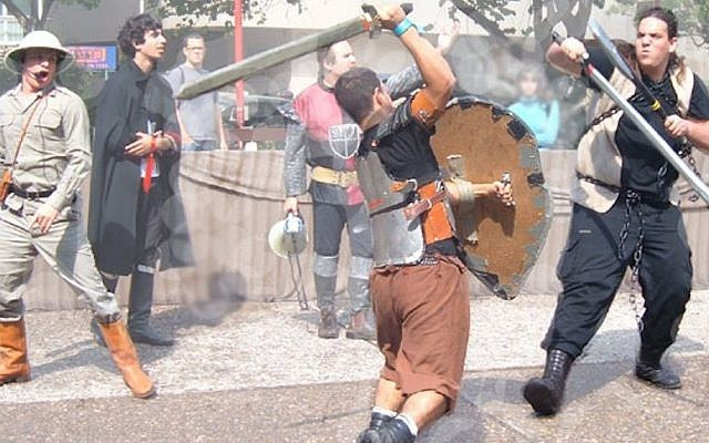 A battle reenactment at a recent Icon festival (Photo credit: Courtesy)