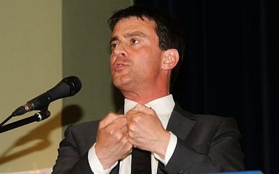 French Minister of Interior Manuel Valls (photo credit: CC BY 3.0, by ComputerHotline, Wikimedia Commons)