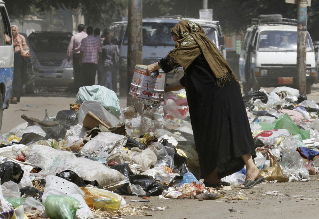 A Test Looms For Egypt S New Leader Garbage The Times