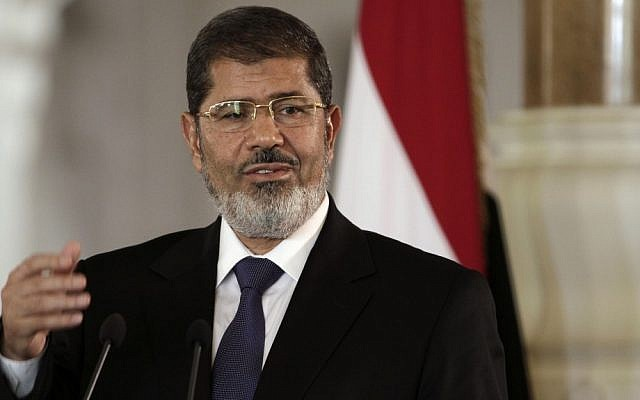 Egyptian President Mohammed Morsi (photo credit: AP/Maya Alleruzzo)