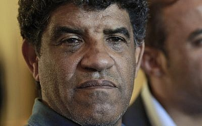 Head of Libyan intelligence, Abdullah Senussi (photo credit: AP/Dario Lopez-Mills)