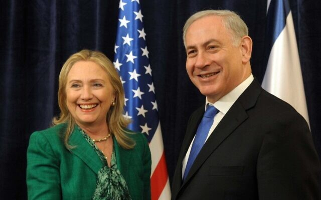 PM Netanyahu meets with US Secretary of State Clinton (photo credit: PMO)
