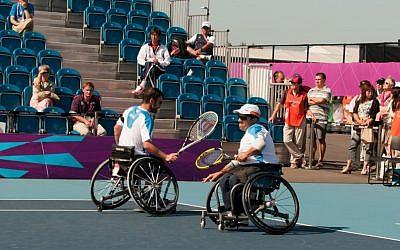 Shraga Weinberg (right) and Noam Gershony (photo credit: Razi Livnat/courtesy of ISAP)