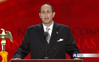 Rabbi Meir Soloveichik gives an invocation to begin the first full day of activities at the Republican National Convention in Tampa, Fla., Aug. 28, 2012. (Republican National Convention)