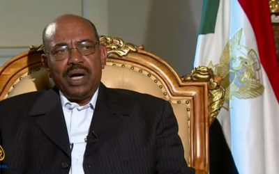 Sudan's President Omar al-Bashir (photo credit: screen capture, YouTube)