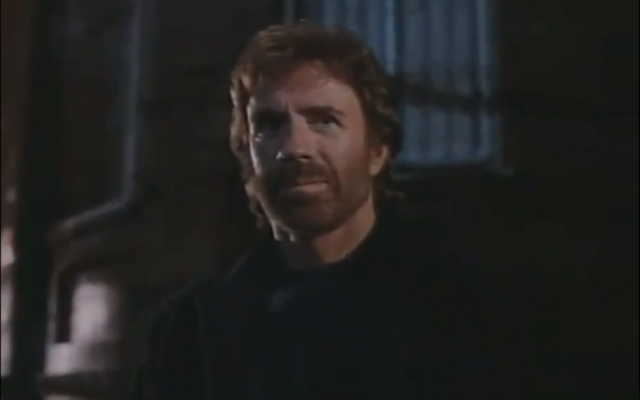 Chuck Norris in the movie trailer for Hellbound, filmed in Israel (photo credit: Image capture from YouTube video)