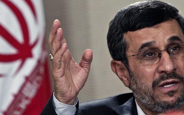 Iranian President Mahmoud Ahmadinejad (photo credit: AP/Bebeto Matthews/File)