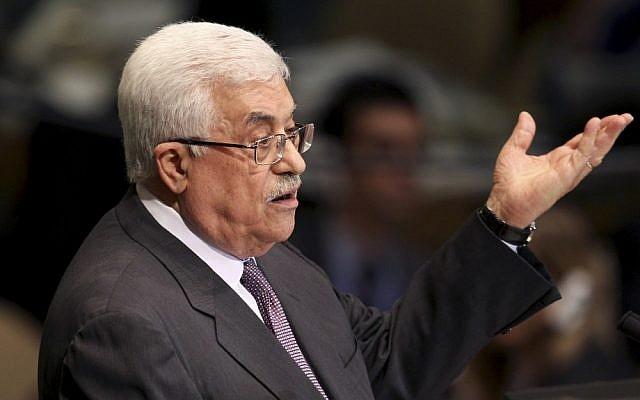 Palestinian Authority President Mahmoud Abbas addresses the 67th session of the United Nations General Assembly at UN headquarters in New York, September 27, 2012 (photo credit: AP/Seth Wenig)