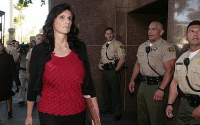 Cindy Lee Garcia, one of the actresses in 'Innocence of Muslims,' arrives for a hearing at Los Angeles Superior Court in September (photo credit: AP/Jason Redmond)