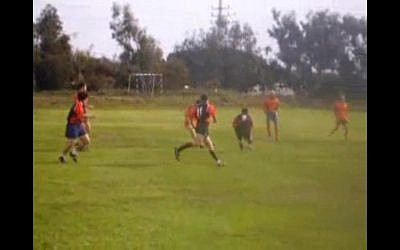 A rugby sevens match in Israel (photo credit: screen capture rugbyas/Youtube)