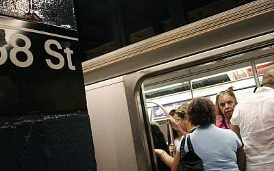 Illustrative photo of a New York City subway (photo credit: Melanie Fidler/Flash90)