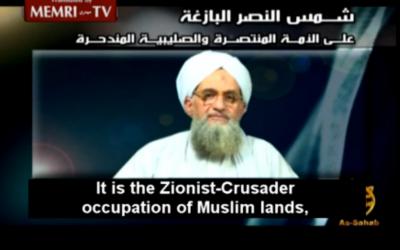 Al Qaeda leader Ayman al-Zawahiri (screenshot: MEMRI)