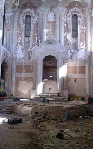 The remains of the Dar Bishi Synagogue in Tripoli, Libya. (photo credit: Courtesy, Meir Kahaolon)