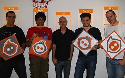 Members of Face.com's original Israeli development team (Photo credit: Courtesy)