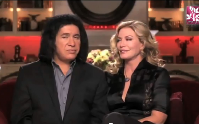 Gene Simmons and his wife, Shannon Tweed (photo credit: screenshot, YouTube)
