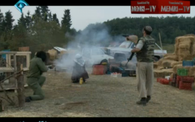 "A scene from Iranian television movie ""Saturday Hunter"" (screenshot: MEMRI)"