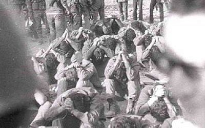 Israeli POWs on the southern front during the Yom Kippur War (Photo credit: Courtesy: Erim Balaila)