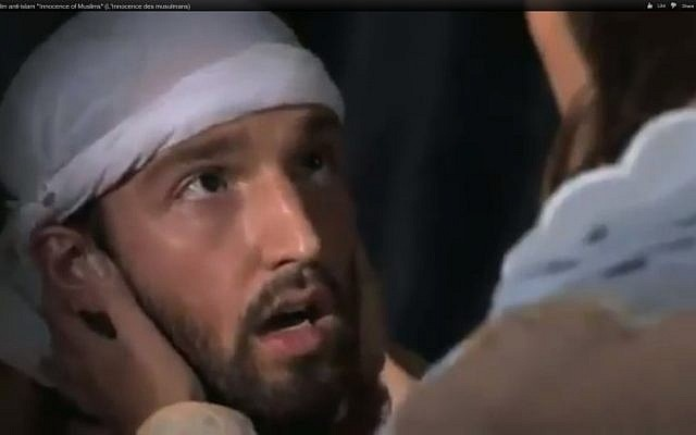 """An actor playing Muhammad in """"Innocence of Muslims"""" (Screenshot via YouTube)"""