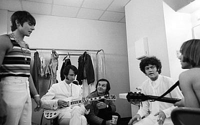 The Monkees with Jack Nicholson (photo credit: Henry Diltz)