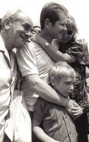 Ori Shahak with his family on the day he returned from captivity (Photo credit: Courtesy: Erim Balaila)