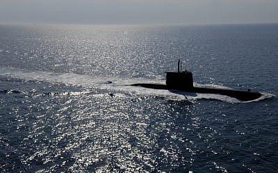 A Class 209 submarine in the Mediterranean in 2005. (photo credit: U.S. Navy/Dave Fliesen)