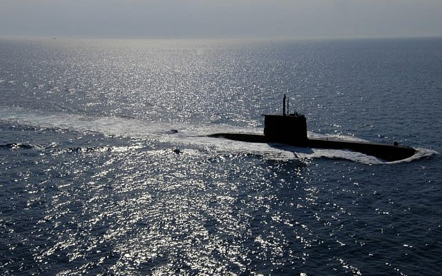 A Class 209 submarine in the Mediterranean in 2005. (photo credit: U.S. Navy/Dave Fliesen)