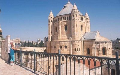 View of Dormition from a Mount Zion rooftop (photo: Courtesy)
