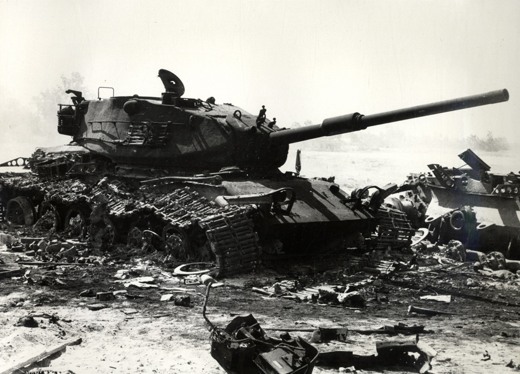 A Wrecked Israeli Tank During The Early Days Of The Yom Kippur War Wikimedia Commons