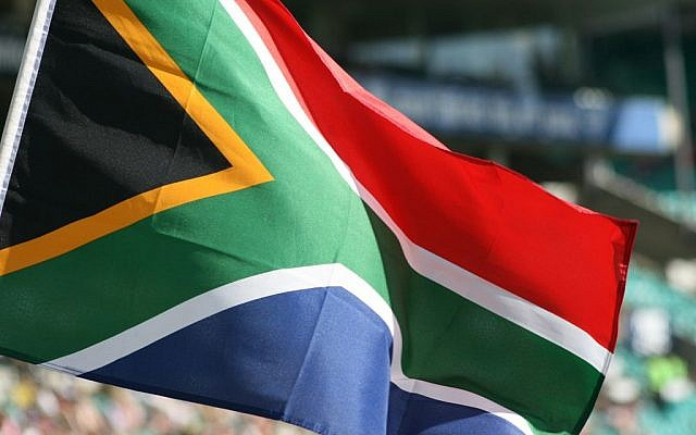 South Africa's flag (photo credit: CC BY SA Privatemusings/Wikipedia)