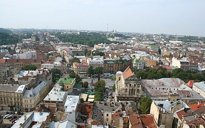 View of Lviv, Ukraine (photo credit: CC BY SA alexeyklyukin/Flikr)