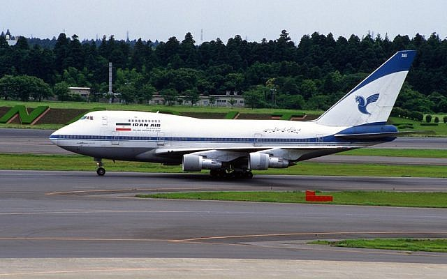 Illustrative photo of an Iran Air Boeing 747SP-86 (photo credit: CC-BY-SA 2.0 contri/Flickr/File)
