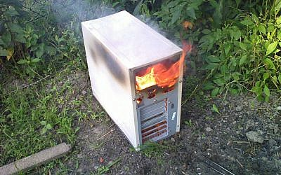 Illustrative photo of a burning CPU (photo credit: CC BY Am-Mo/Flikr)