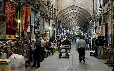 A bazaar in Tehran in 2011 (photo credit: CC-BY Kamshots, Flickr)