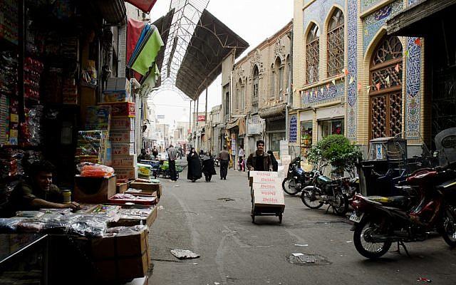 Iran's main bazaar in 2011. (photo credit: CC BY kamshots, Flickr)