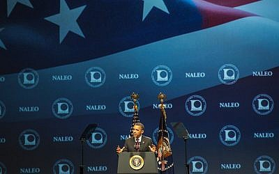 President Barack Obama addresses an audience in Lake Buena Vista, Florida, earlier this year (photo credit: CC BY US Department of Labor, Flickr)