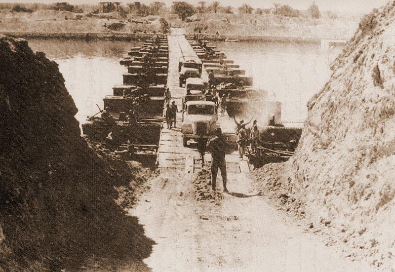 Suez crossing, Yom Kippur War (photo credit: Wikimedia Commons)