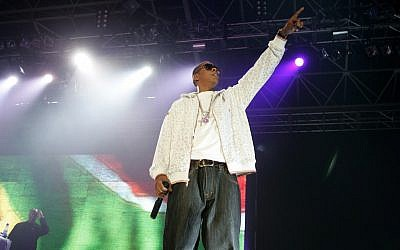 Hip-hop star Jay-Z performs in Cape Town, South Africa, in 2006. (Obed Zilwa/AP)