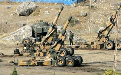 Illustrative photo of Turkish army howitzers. (photo credit: AP)