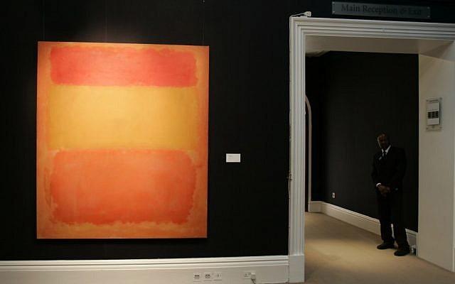 "Mark Rothko's ""Orange, Red, Yellow"" (1956) (photo credit: AP/Alastair Grant)"
